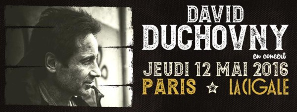 David Duchovny en concert à La Cigale le 12 mai 2016