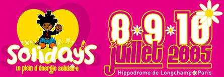 Festival Solidays @ Hippodrome de Longchamp - 8/10 juillet 2005
