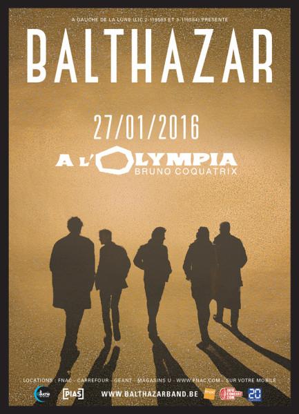 Gagnez 2x2 places pour Balthazar @ Olympia le 27 janvier 2016