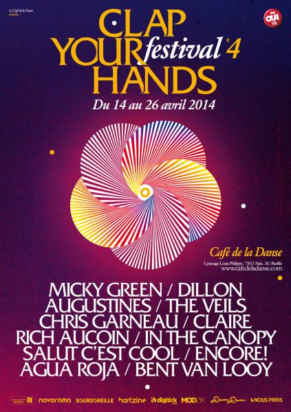 Gagnez des places pour le festival Clap Your Hands @ Café de la Danse - 15 et 16 avril 2014