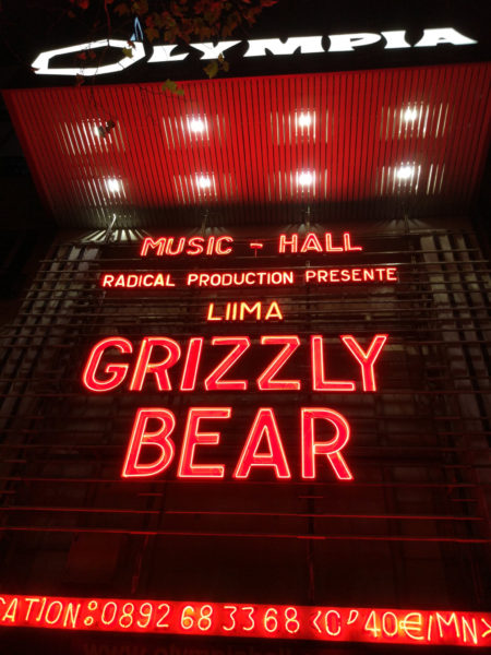 Grizzly Bear @ L'Olympia - 16 octobre 2017