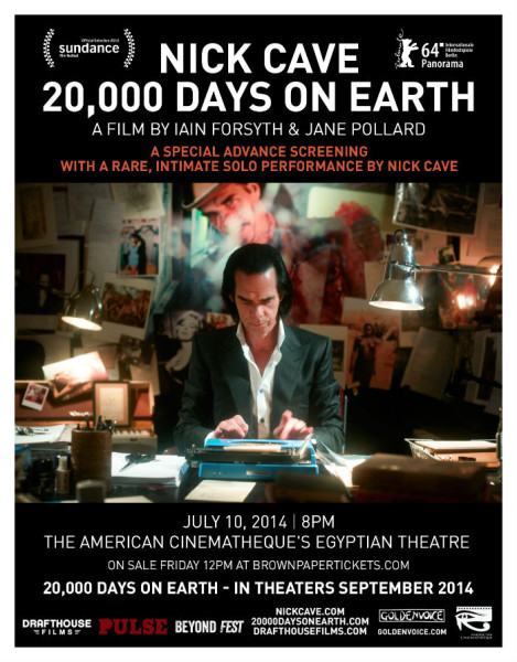 20,000 Days on Earth, Trailer officiel et date de sortie