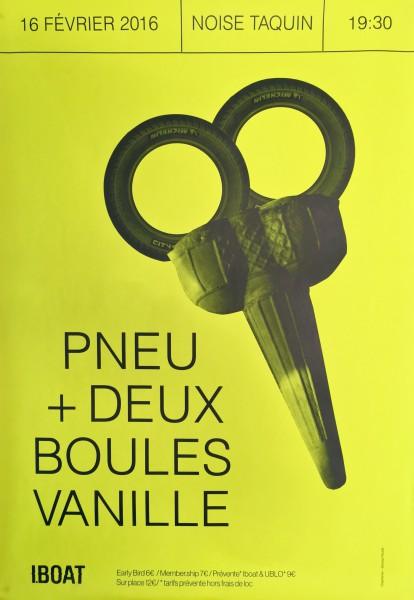 Gagnez 2x2 places pour Pneu + Deux Boules Vanille @ I.Boat le 16 février 2016