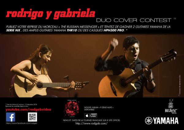 Participez au concours de Rodrigo y Gabriela