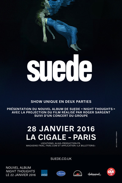 Gagnez 1x2 places pour Suede @ Cigale le 28 janvier 2016