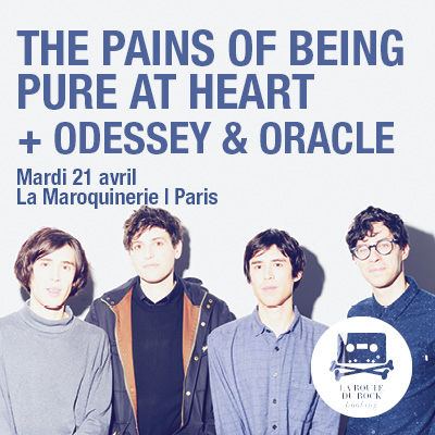 Gagnez 1x2 places pour The Pains Of Being Pure At Heart @ Maroquinerie le 21 avril 2015