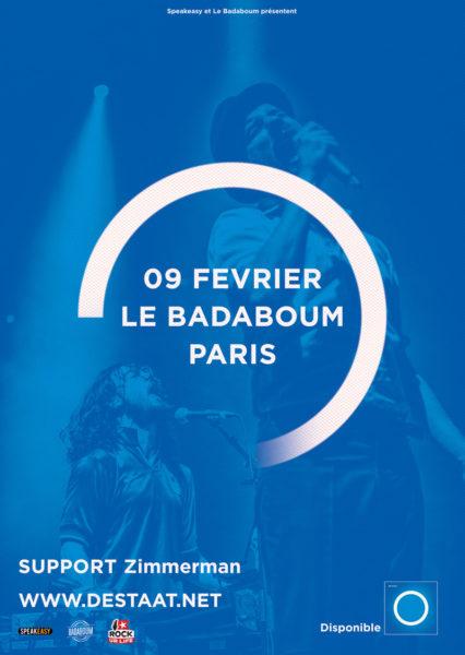 Indiepoprock vous invite au concert de De Staat au Badaboum !