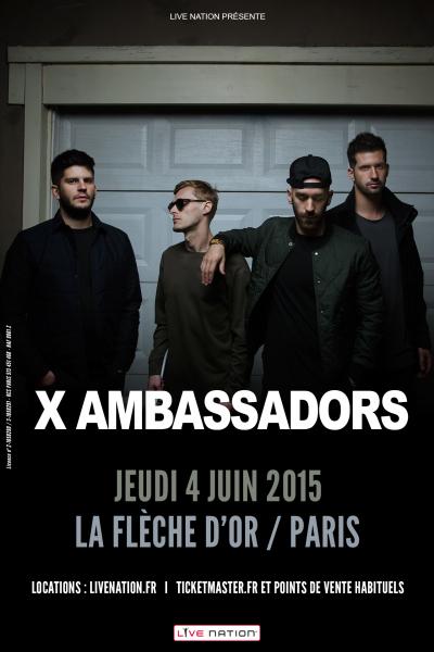 Gagnez 5x2 places pour X Ambassadors @ Flèche d'Or le 4 juin 2015