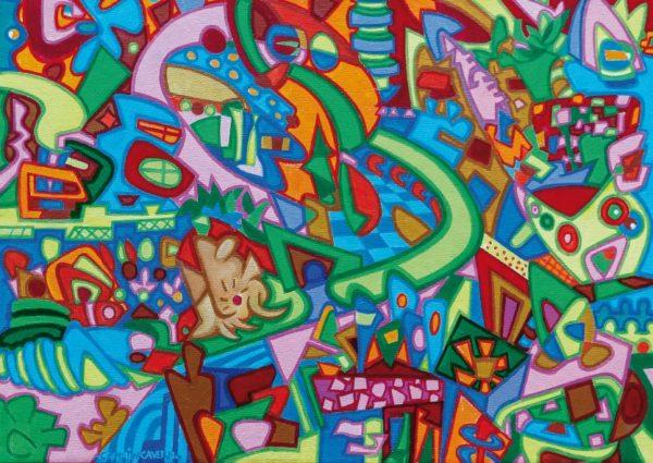 A travers le miroir sans le voir : peintre pop psychédélique