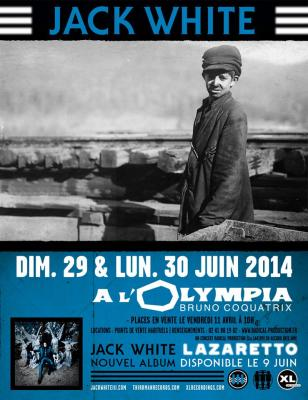 Jack White + The Amazing Snakeheads @ L'Olympia – 29 juin 2014