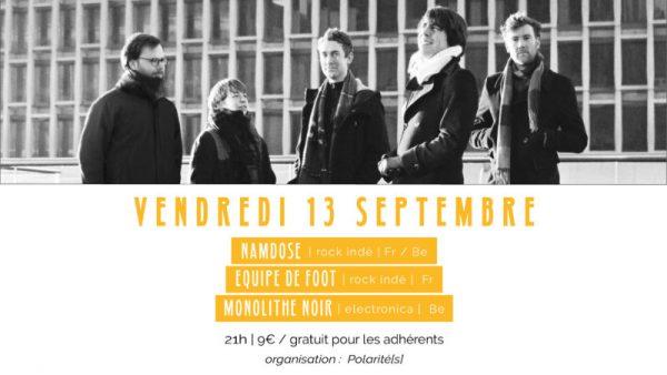 Indiepoprock vous invite au concert de Namdose au Novomax de Quimper le 13 Septembre
