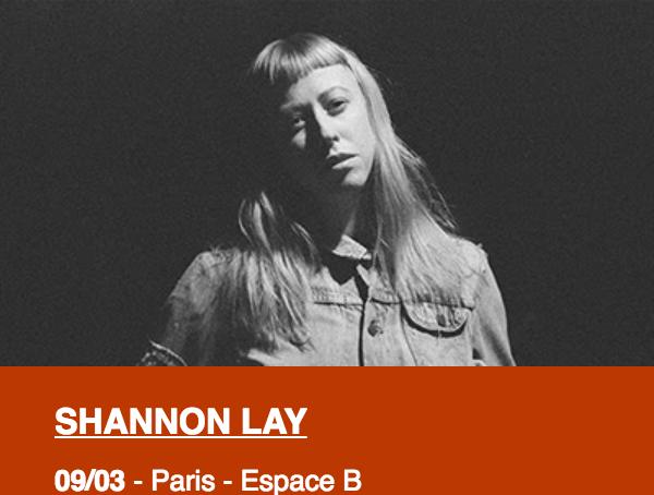 Assistez au concert de Shannon Ley le 9 mars à L'espace B