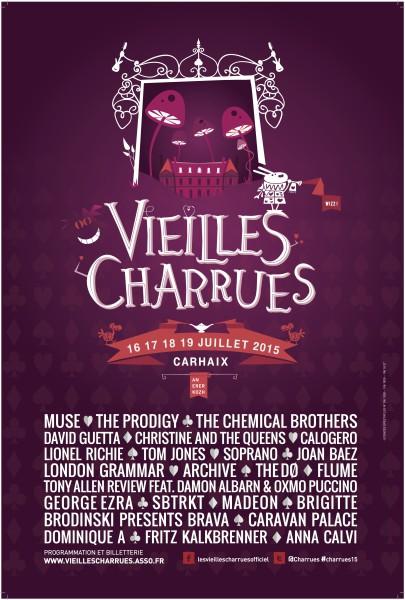 Gagnez 1x2 places pour les Vieilles Charrues le 17 juillet 2015